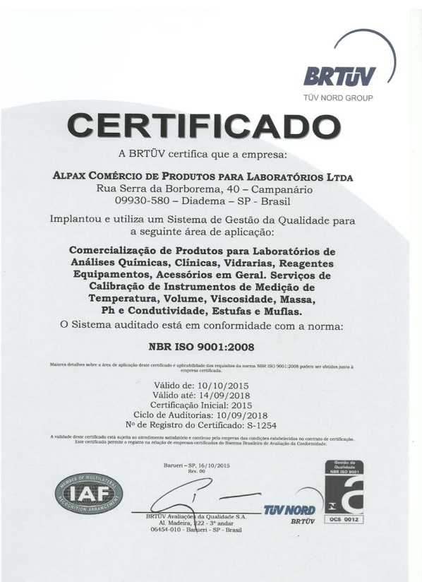 Alpax - Certificados