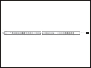 Termômetros decimais - diam. 8,5-9,5 mm