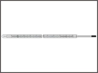 Termômetros decimais - diam. 12 mm