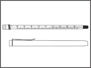 Termômetros refrigeração e laticínios, escala externa