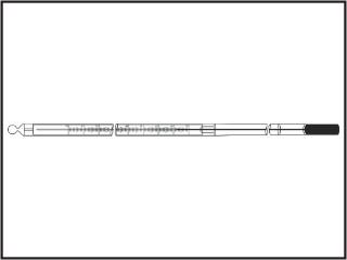 Termômetros refrigeração e laticínios, escala interna, capilar transparente