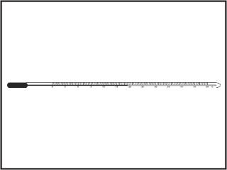 Termômetros petróleo e seus derivados em estado líquido, capilar prismático