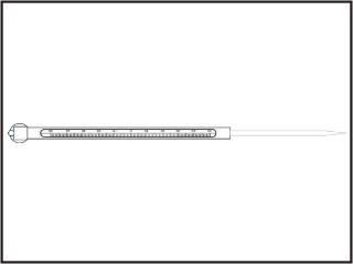 Termômetros refrigeração e laticínios, escala externa (carne congelada)