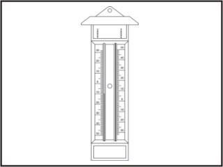 Termômetros máxima e mínima - tipo capela